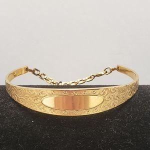 Gorgeous Vintage JB Signed Gold tone Bracelet